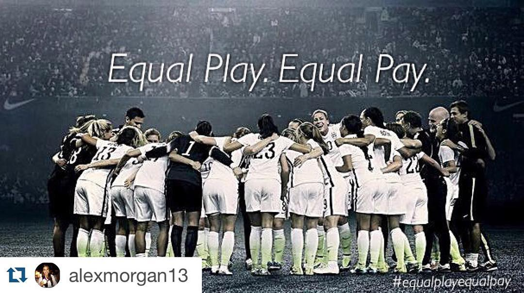 All women in all sports deserve equal pay. #unitedwestand #Repost @alexmorgan13 with @repostapp. ・・・ Today, I joined my teammates to file an action with the Equal Employment Opportunity Commissions, accusing the US Soccer Federation (USSF), of wage...
