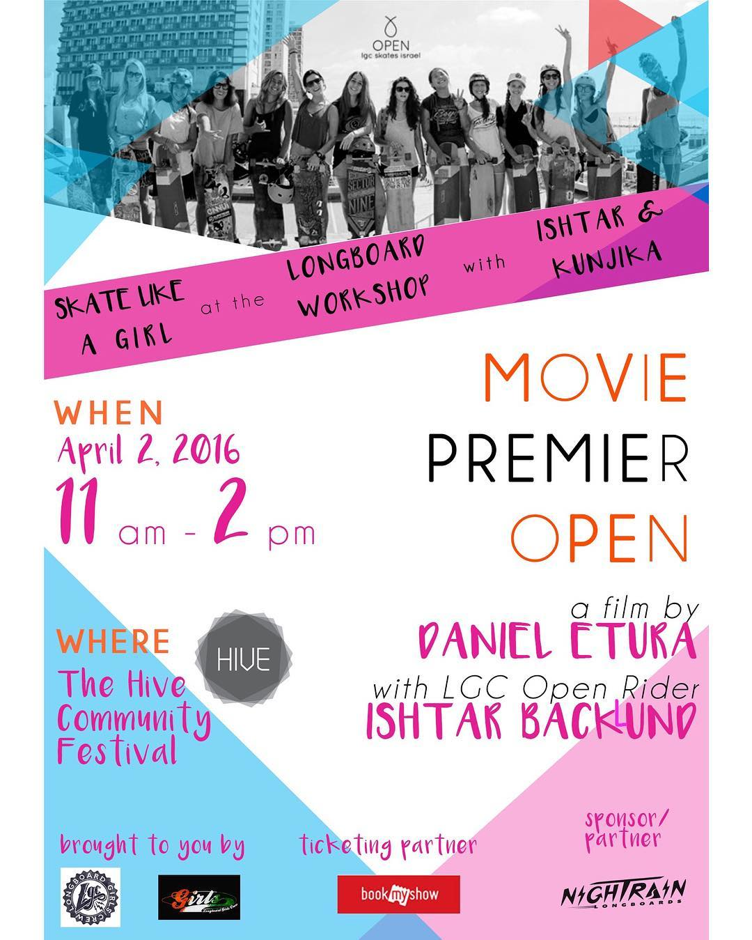 We're over the moon to announce INDIA's OPEN premiere this Saturday April 2 and a workshop hosted by LGC OPEN rider @ishtiish and LGC Indian Ambassador @kunjikaa In Bombay!