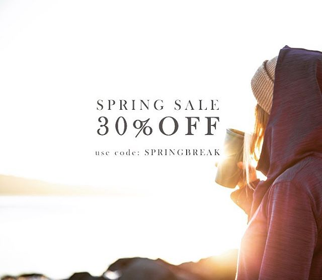 Spring cleaning has commenced! Enjoy 30% OFF our entire website while supplies last. Use code SPRINGBREAK at checkout. All sales are final using this code.  _ #tahoemade #springbreak #sale