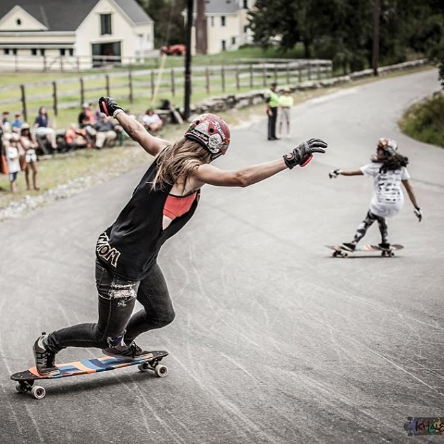 @fillbackside & @carmen_sutra just released their new video: Romantic Getaway. Go to www.longboardgirlscrew.com and check it out. One of the raddest couples in longboarding! @khaleeqovision photo #dykesondecks #bosses #longboardgirlscrew