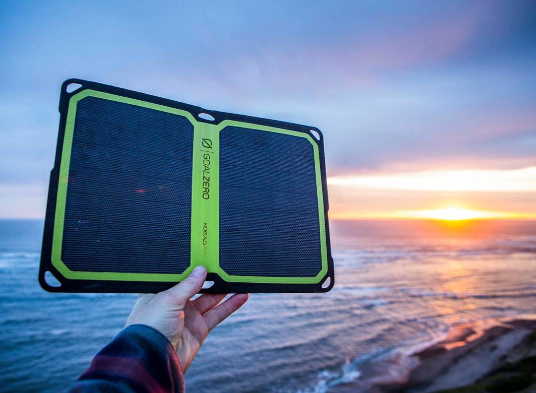 """This is a slick little solar panel. It is effective at quickly charging small devices and is simple to use thanks to intuitive metering and design. For those who just want to recharge phones and other small electronics, or store energy in small..."