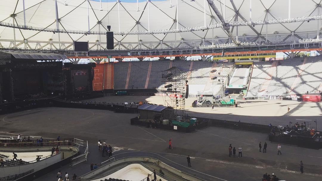 Todo listo para el show de #ColdplayBuenosAires