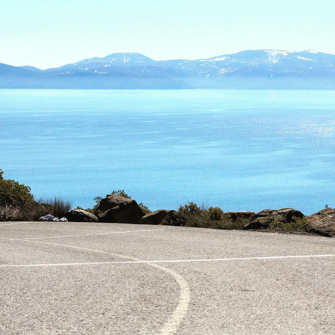 On the road to the weekend.  _ #thisistahoe #tahoemade
