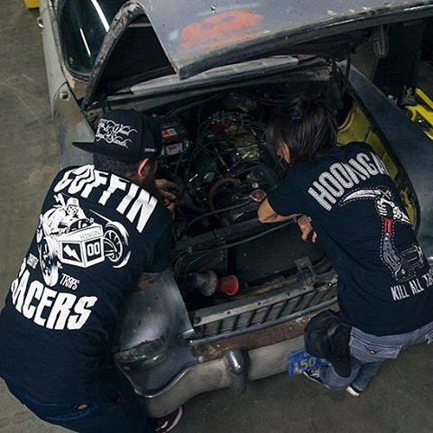 Hoods up, tools out. The Coffin Racers and Reaper are back and available now. [Hoonigan.com]