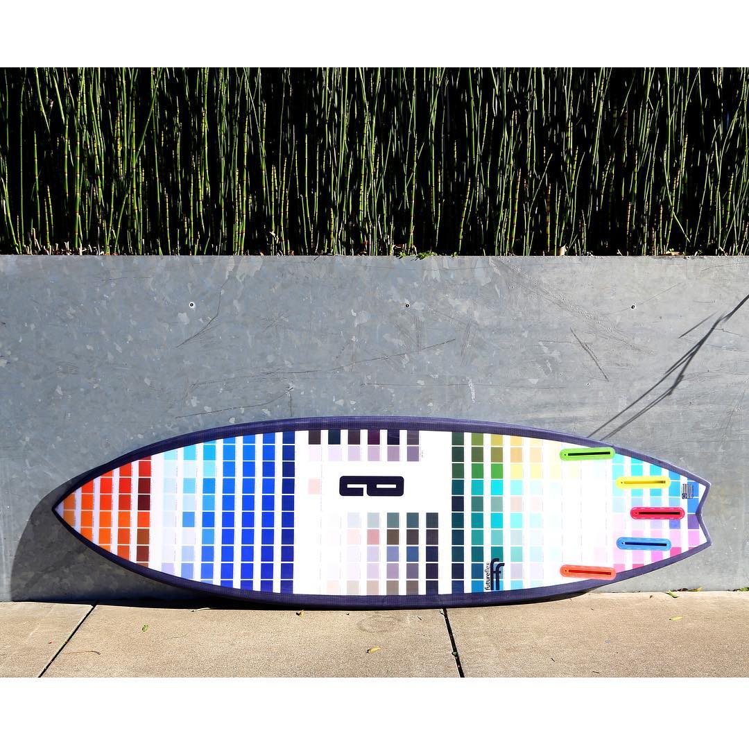 the Cheata in pantone. fresh from glassing. amazing job @pureglassinc and @boardlams for the full size print 5'9 x 19 3/4 x 2 5/16 with 28.7 L @boardporn #awesomesurfboards #awesome @_boardinks_ #shredsled #pantone