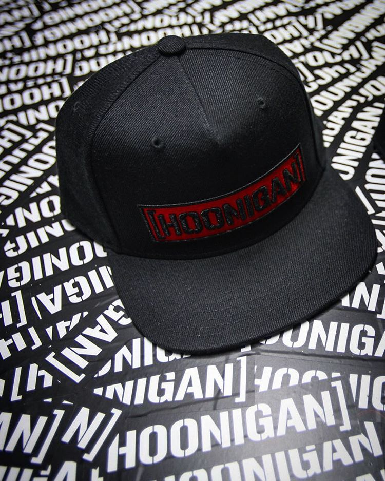 For less than the price of all of those stickers, you can have this red-backed C-bar snap back. Available on #hooniganDOTcom.