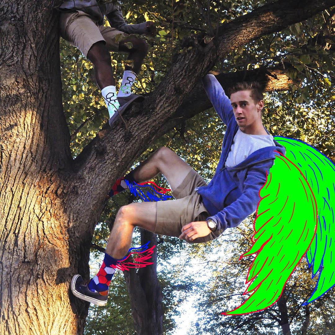 New #bold feature: flight. #takeoff #givesyouwings #flyingsquirrel #aprilfools #atleisure #bostoncollege #getoutside