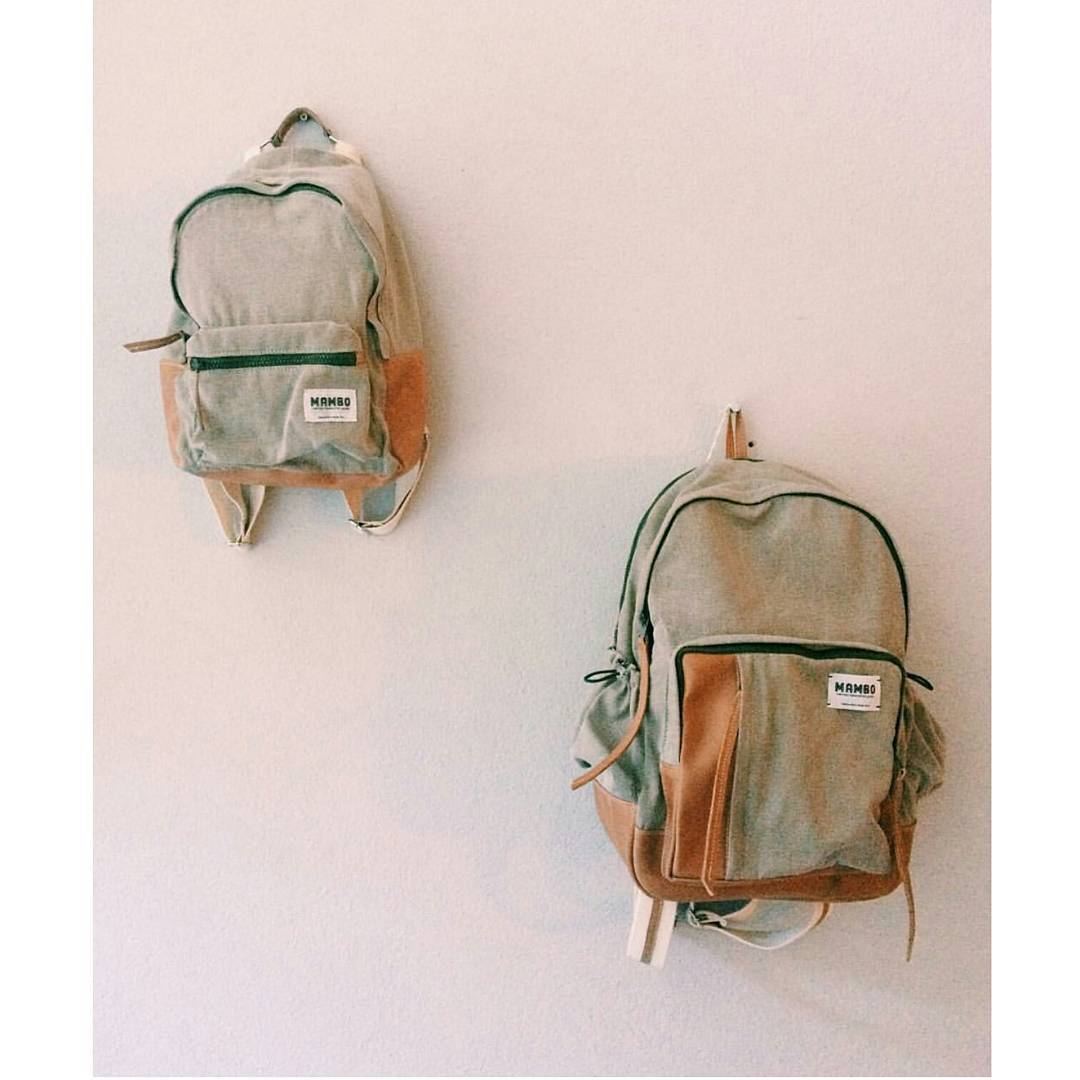 Mochilas Pacífico y Atlántico en canela • Canvas Originals •  #mambobackpacks #backpacks #cottoncanvas #traveloften #urbanoutdoor