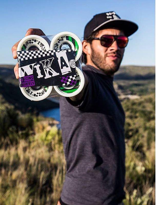 Wika Wheels simplemente las mejores... Nuestro Team Rider Santi Obermeller probando estos jabones en #SanLuis Foto por Tatorres #andarxandar