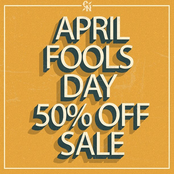 "APRIL FOOLS DAY SALE - 50% OFF ENTIRE ORDER - USE PROMO CODE ""FOOL"" - 24 HOURS ONLY! #concretenative #sk8life #skatelife #skateboarding #longboarding #longboardlife #sale #notajoke #thisisreal"