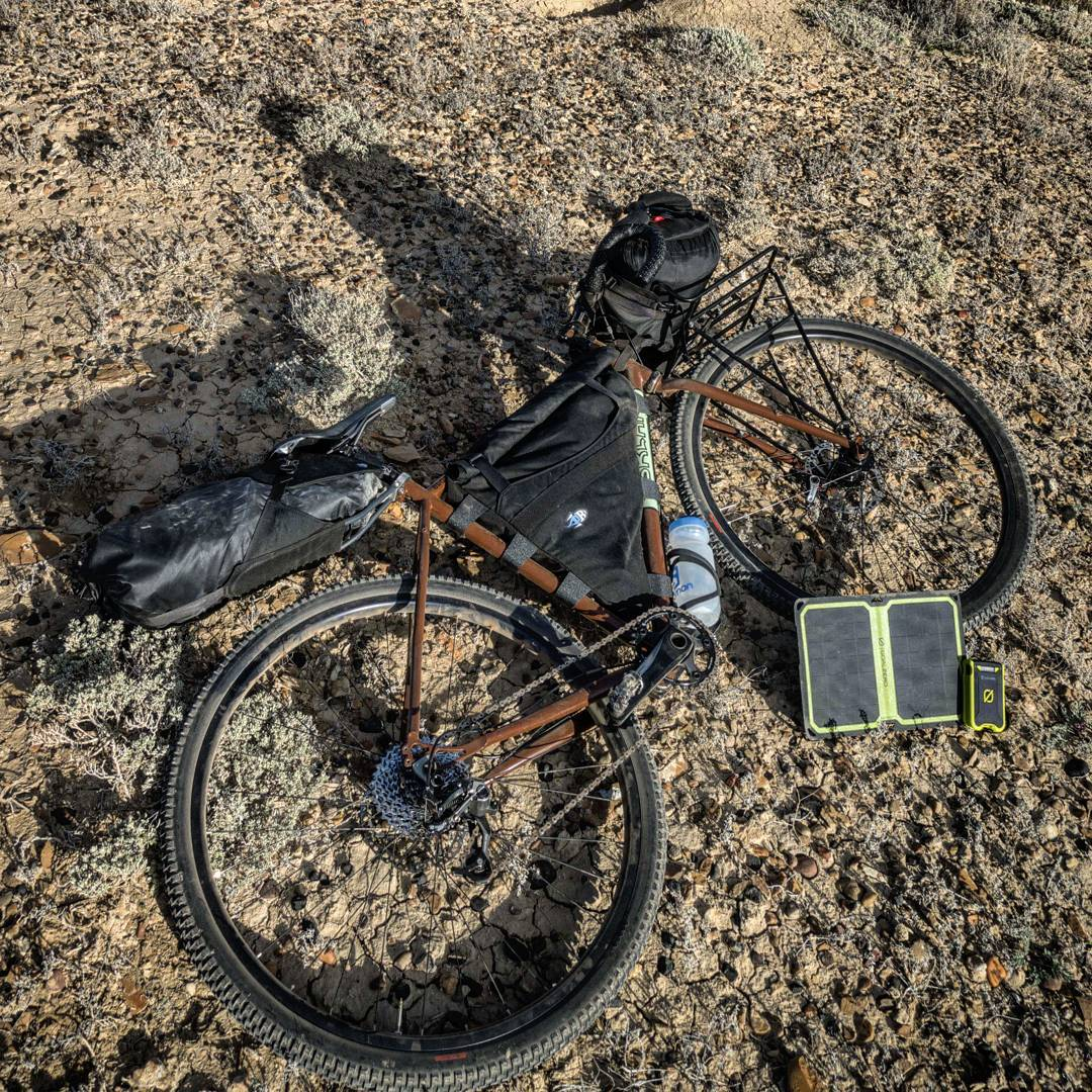 """I spent 8 days bikepacking around southern Utah with THE editor of @semi_rad through desert sand. The van got towed, the roads were awful, we had to hitch a ride back to the beginning and start over, but whatever. Type 2 fun."" -@brodyleven..."