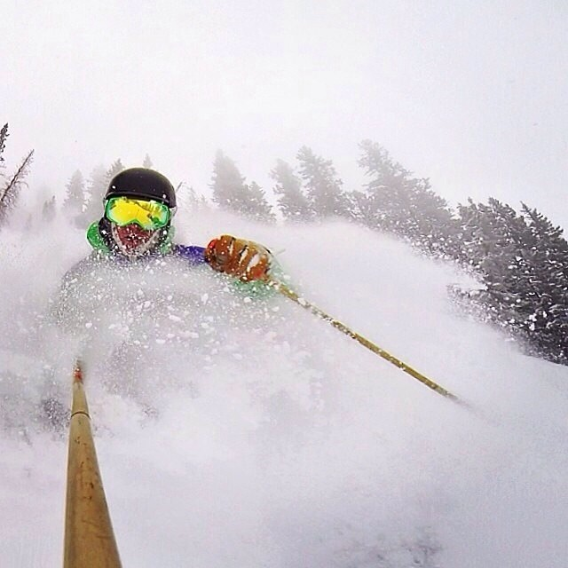 TBT to 4 weeks ago when #Soulbassador, @johnsonjoe, was chest deep in @altaskiarea glory. | Don't miss your chance to test the swing weight of our #qualityshafts this Saturday the 12, at the #AltaInApril demo day!  #plantyoursoul #hero3