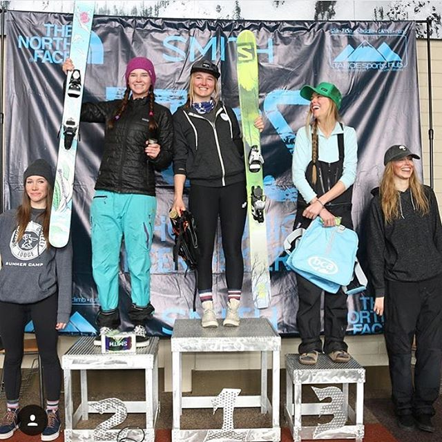 Super proud of @tahoetatum with a 2nd place finish at the @ifsafreeriders comp at @squawalpine last weekend. Keep crushing lady! #sisterhoodofshred #skiing #california #competition #skilikeagirl