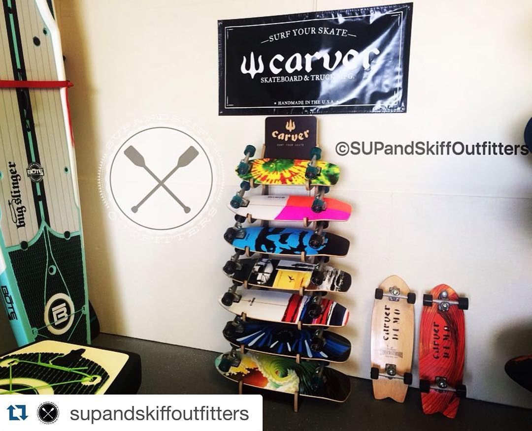 #Repost @supandskiffoutfitters with @repostapp. ・・・ Thanks @benponceinlet for getting us our starting lineup of Carver SurfSkate Skateboards! #carverskate #carverskateboards #carverskateboard #surfskate #surfing #surf #cocoabeach #orlandoskate...