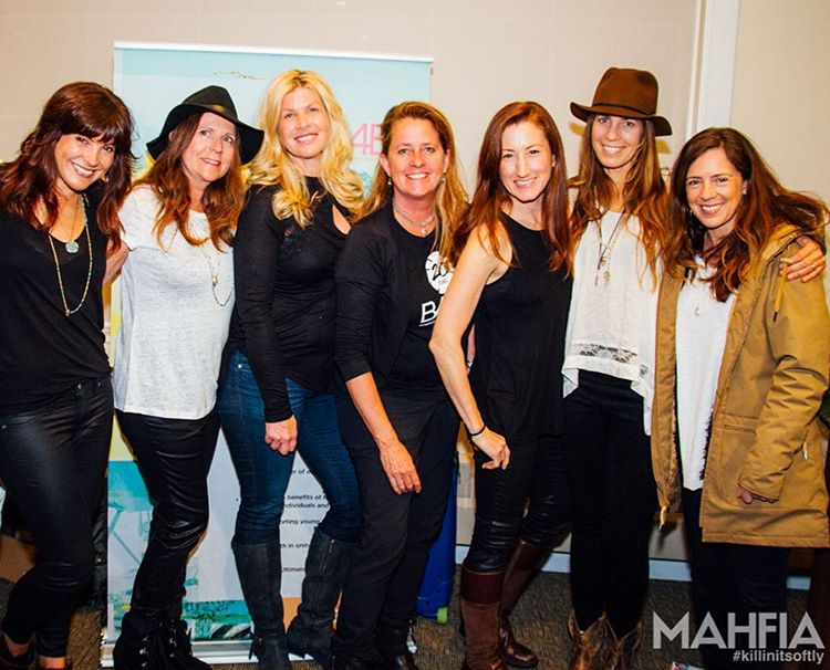 Last night we kicked-off the Snowboard + Music Festival with a few of the OG industry ladies and pro riders that made B4BC a reality 20 years ago. We're heading to the mountain at @sierra_at_tahoe to start off the festival with 108 Sun Salutations with...