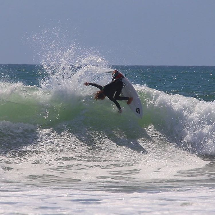 @davideconomos ditching the fins (and hopefully not school) yesterday at Lowers.