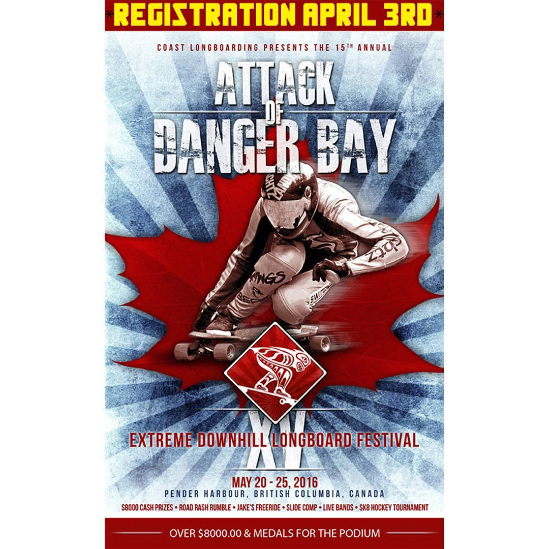 Registration for Attack of Danger Bay 15 is tomorrow, April 3rd. Get on that list so you don't miss out. Danger Bay is May 20-25 and includes freerides and Races at Jakes rash, concerts, parties, bands and the man, the legend himself, Bricin Lyons. ...