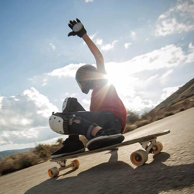 Paloma @palaxa from Spain shot by @patrickbate from @dhlongcrew_. Beautiful! #longboardgirlscrew #enalgunlugardelamancha