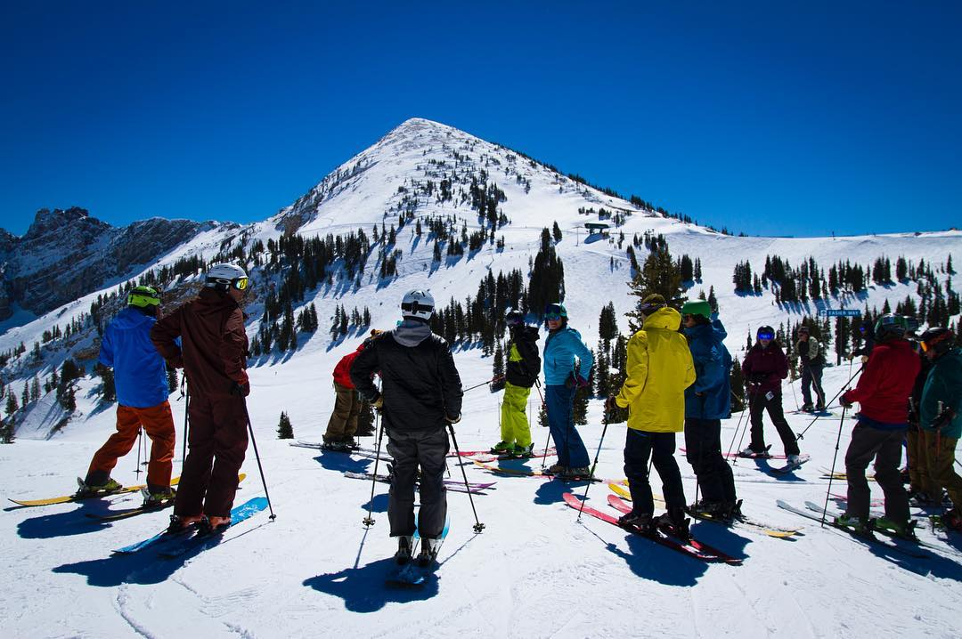 Under high spring sun, DPS Rider's Weekend is in full swing at @altaskiarea Dedicated skiers from around the world talking ski design and tech, and shredding in the Wasatch #dpsridersweekend #dpsskis #mydps #dpsoldguard #wasatch
