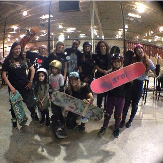Come by @modernskate today at 2pm to shred with these ladies