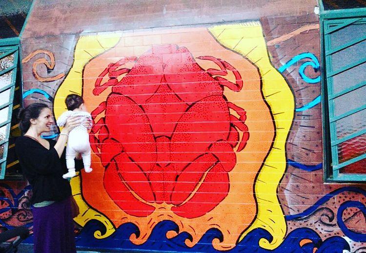 Encontrandonos! #mural #streetart #cangrejo