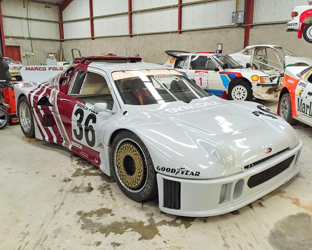 One very special and rare Ford RS200: the Ford RS200 IMSA GTO, built/converted by Marco Polo Motorsport in the late 80s. Absolutely amazing to see the massive tires and bodywork done to make this thing work for IMSA road racing. #groupbonsteriods...