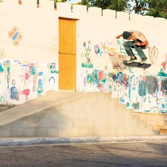 Get out there and explore. @sebowalker Nollie backside flip in Cabo, caught by @bencolen. #Nixon #WasteNoTime