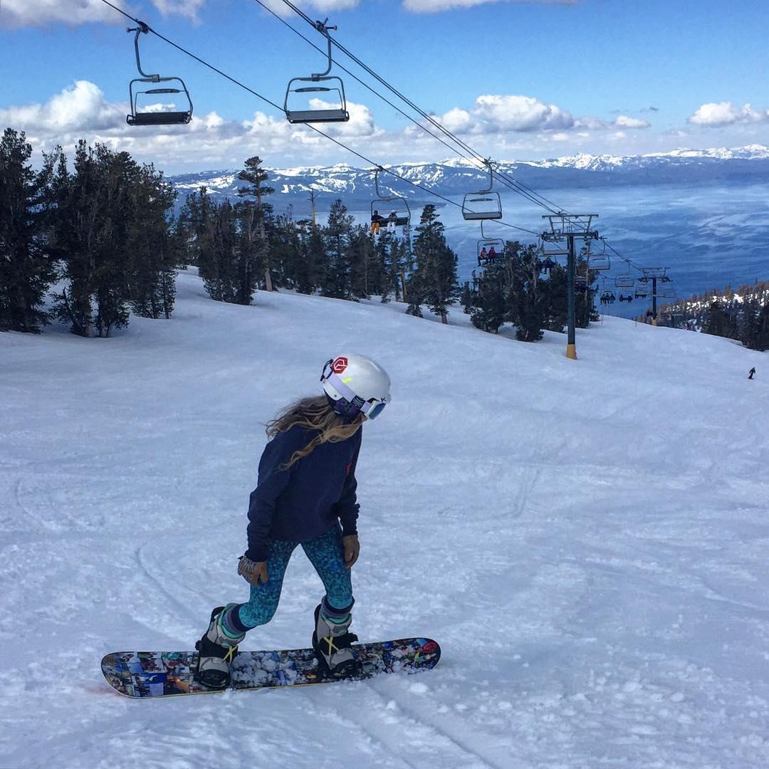 Spring skiing is Heavenly