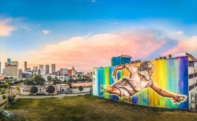 "Largest mural In Houston by @mrd1987 • • ""Préservons la création "" 10k sqr. ft. • •"
