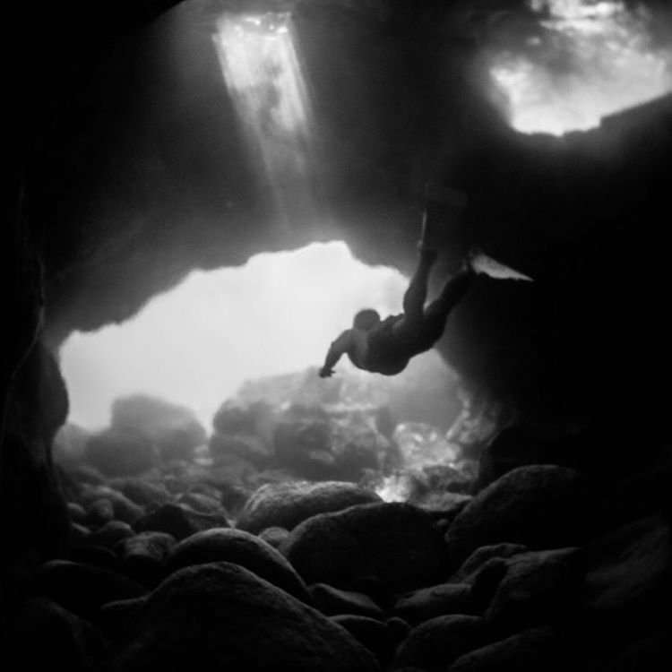 getting a little lost under the sea in the brackish blur
