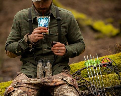 Being in the woods makes us feel like a kid again...or it could just be the snacks we eat.  What's your fuel for a hard day outside? #outdoors #flannel #caprisun #oreos