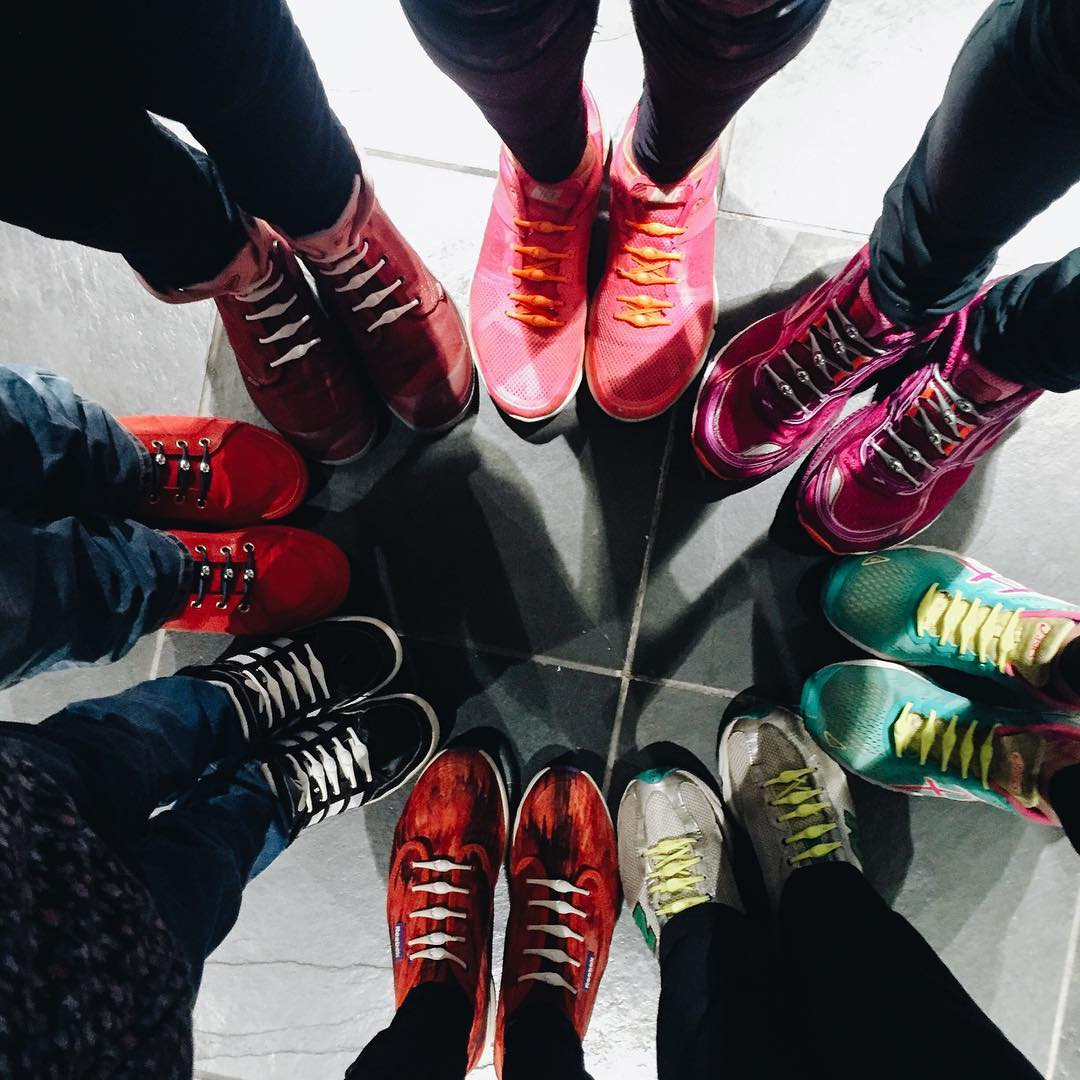 last night's color wheel from a few of the @fitforbroadway x @lululemon crew. #HICKIESFit #lifewithoutlaces