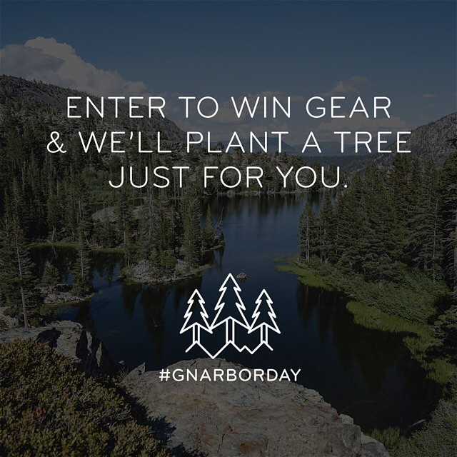 2 giveaways at one? IMPOSSIBLE...until now. We're teaming up with @gnarbox to give away loads of adventure photo gear (cameras, packs, drones, GoPros) AND plant a tree for each person who enters. Follow @gnarbox and click the link their bio to get into...