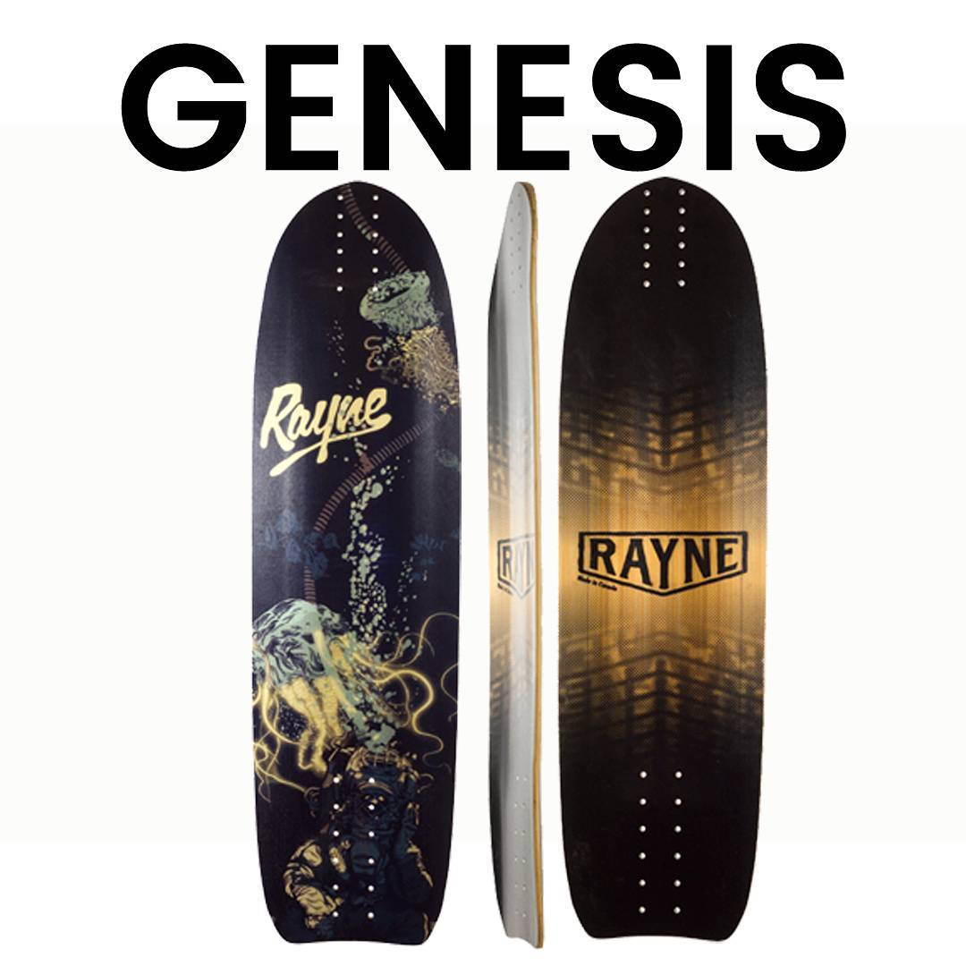 In case you missed it, the  #rayneGenesis was just released. It has a lot of features but rides like a simple top-mount. Featuring Rocker, 3D Wheelwells, Pleasure Dome Concave a subtle Micro-Drop and Fatbottom Core wrapped with pre-tensioned Triax...
