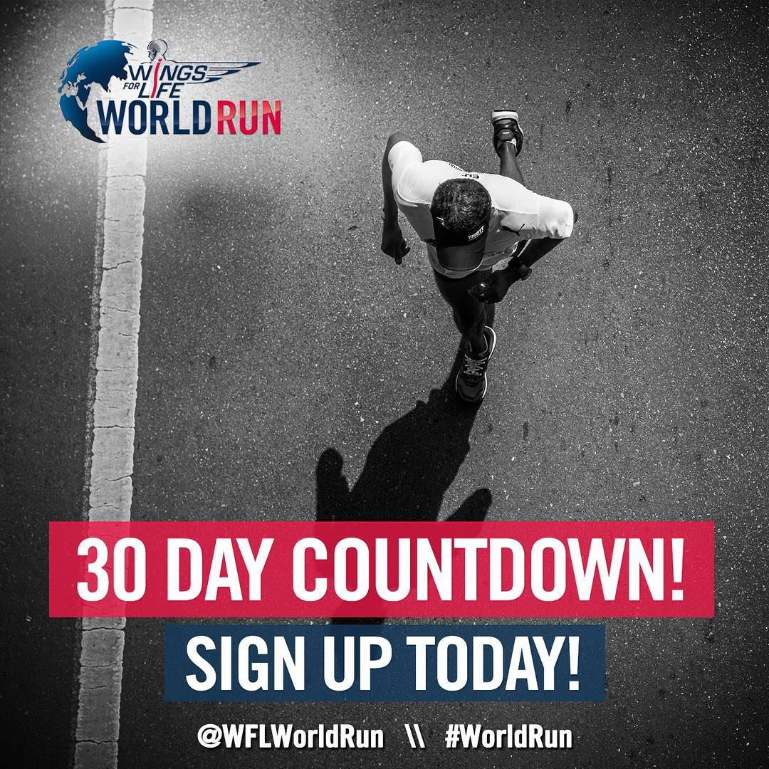 Only 30 days left to register for @wflworldrun! Tune in tomorrow for details on how to join the High Fives selfie run team! #worldrun