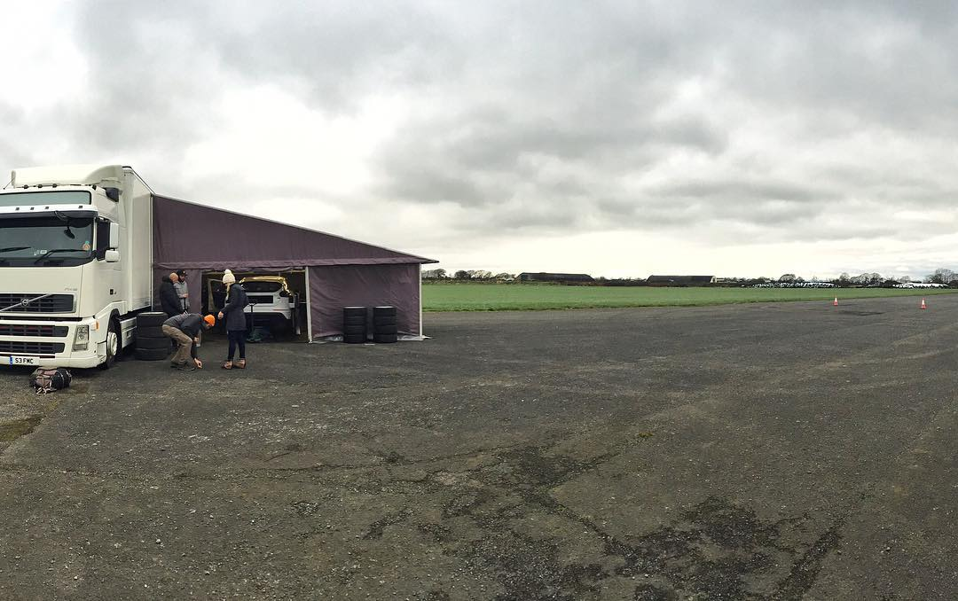 Out here in @MSportLTD's tarmac testing grounds on an old airfield in the UK countryside today to do more testing with the new @FordPerformance/M-Sport built Ford Focus RS RX racecar. It's going to be a GOOD day. #testdays #lessthantwoweekstoRXPortugal...