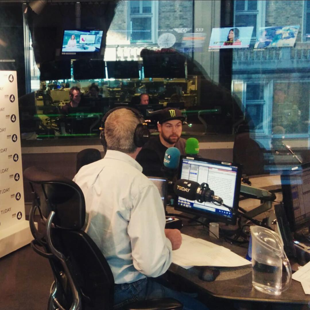 Speaking live on BBC Radio 4 this morning in London talking about @fiaworldrx and promoting #dirtrally which is launching on console today!! Come check out the launch event on south bank starting from midday!! I'll have my DS3 RX SuperCar and the Pikes...