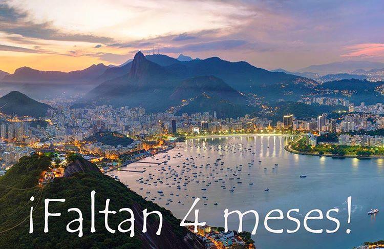 A sólo 4 meses de los Juegos Olímpicos de #Rio2016!