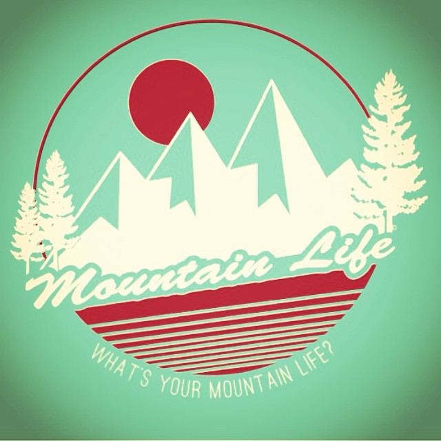 "#spring and #summer are just around the #mountain so we are psyched to show everyone on of our newest designs that will be available on a variety of technical shirts and #tees ""WHAT'S YOUR #MOUNTAINLIFE?"" #mountainlife #mountainlifeco (all art and..."