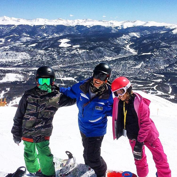 "#Superstar instructor, Shira Ellenson with two @sosoutreach participants that made it to the top of the #Imperial Lift (highest lift in the #USA) during their last day of ""Learn to #Ride"" at @breckenridgemtn ! Nice work!"
