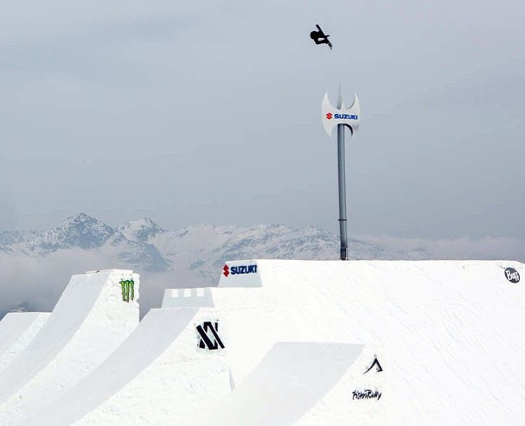 Seven-time #XGames Snowboard SuperPipe competitor @HitschHaller soared 37 feet high in Italy!  Jump over to XGames.com to check him out. (