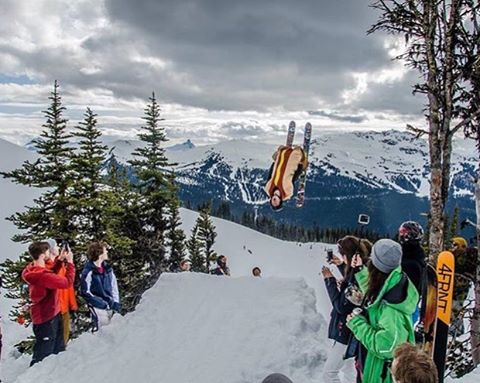 Spring shred is on which means hot doggin' is in full effect! @petercraigen @ubcfreeride |