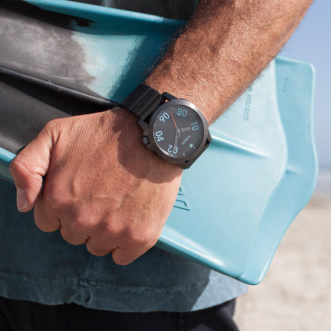 The rugged construction and deluxe silicone band of the #Ranger45Sport is built for following you off the beaten path. #Nixon