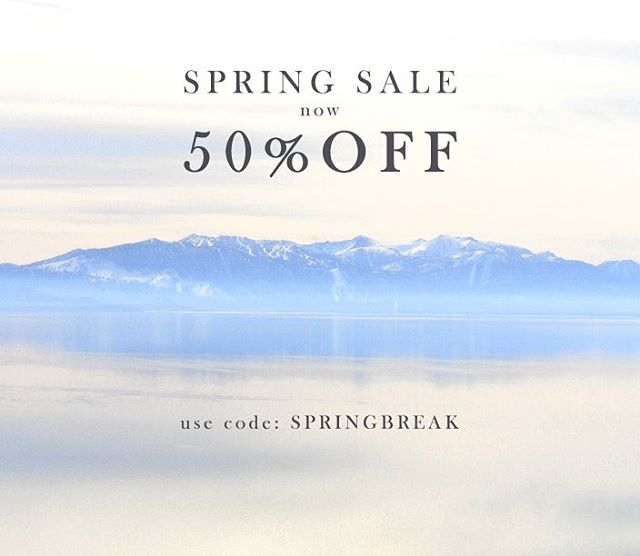 The spring cleaning continues! Everything on our website now 50% OFF. Get it while the gettin's good.