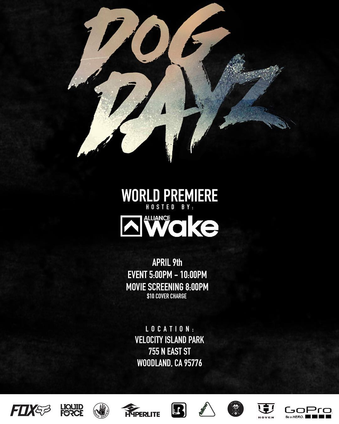 JOIN US!! This Saturday at @velocityislandpark for the most anticipated West Coast wake film to date, @dogdayzfilm !! Excited to see everyone there!