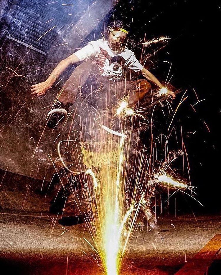 @greglutzka over the sparks. || photo @robbiecrawford #nectarlife #truefreedom