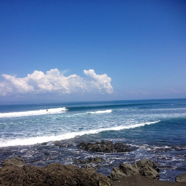 "Pavones, Costa Rica - ""Fun in da sun!"" — Fun · Chest (3ft) · Glassy · Few People (via Peter Harrison) — at Pavones #goFlow"