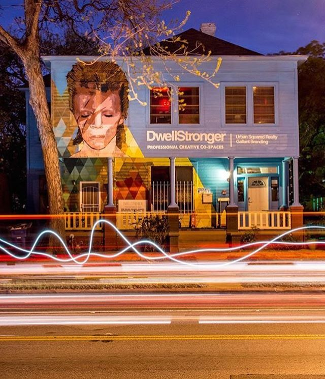 Art by @uloang Location: @dwellstronger • • Creative people supporting creative people.  Get to know your neighbors and carve out your space in the Austin's creative community today.....Not tomorrow. • • #atx #austintx #texas #tx #spratx #create...
