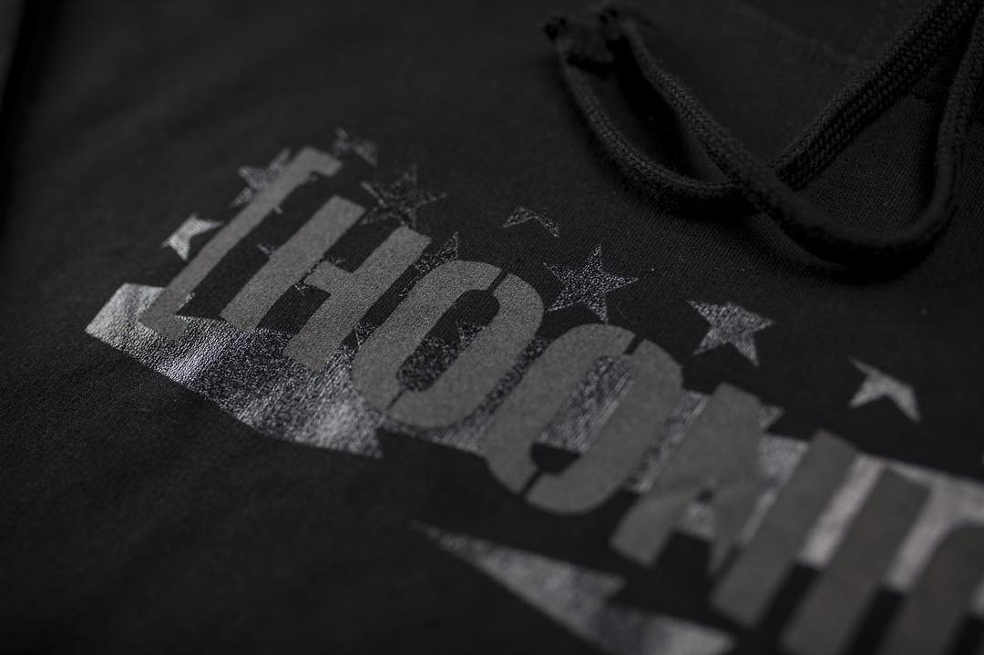 Detail shot of our tonal, black on black, Stars and Stripes pattern. Available in a few different styles. Head over to #hooniganDOTcom to check em out. #supporthooniganism