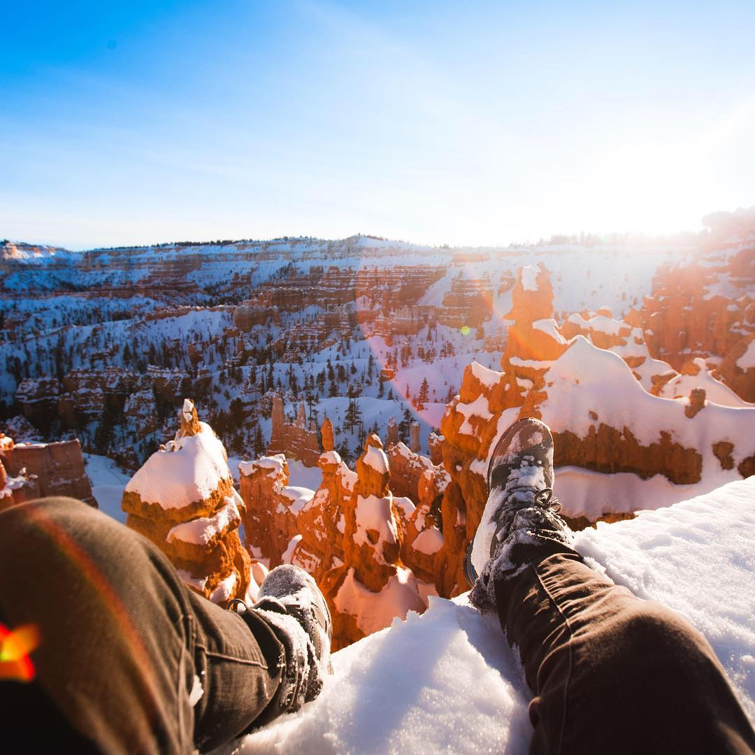 @kylormelton making winter in Utah look oh so fine ❄️☀️
